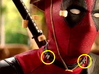 Deadpool Movie Neck Buckle 20mm  3d printed