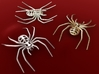 Spider Brooch 3d printed Stainless Steel, Premium Silver & Gold Plated Matte renders