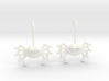 Cute Spider Earrings 3d printed