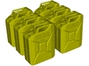 1/9 scale WWII Wehrmacht 20 lt fuel canisters x 6 3d printed