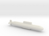 032 submarine, Full Hull, 1/1800 3d printed