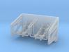 1:96 Life Boat Side Hangers - Sharp angle 3d printed