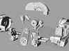 SR10001 Mk1 SRB Engine Part 1 of 6 3d printed Exploded view (actual parts may vary slightly from this image)