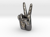 Peace Sign with Chain Tube 3d printed
