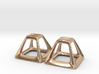 Pyramid Frame Earring Pair 3d printed