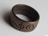 """""""Ashayam"""" Vulcan Script Ring - Engraved Style 3d printed Pictured: Polished Bronze Steel"""