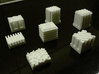 Hotels for Acquire (7 pcs) 3d printed White hotels as they come from shapeways