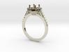 Custom Halo Engagement Ring 3d printed