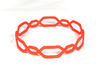 Jasmine Bangle 3d printed Jasmine Coral Red S&F