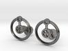 Hydrogen Cufflink 3d printed