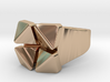 Box Flower - Precious Metals & Plastics 3d printed