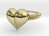 Size 10 Heart Ring 3d printed