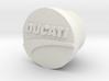 Ducatti Frame Plug With Logo 3d printed