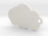 Cloud Keychain 3d printed