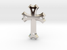 East Syriac Cross Necklace Pendant or Brooch 50mm 3d printed