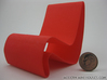 1:12 scale Amoeba modern miniature chair 3d printed (actual material Red Strong & Flexible)
