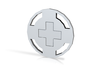 Balanced Tick/Cross Flip Coin 3d printed Balanced volume and simple design.