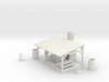 Picnic Shelter Scene - HO 87:1 Scale 3d printed