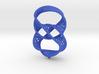 Infinity rings pendant (earrings) 3d printed
