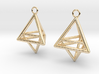 Pyramid triangle earrings type 10 3d printed