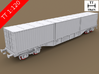 TT Scale Sgnss Container Wagon complete set (EU)  3d printed TT Scale Sgnss Container Wagon complete set (wheelsets not included)