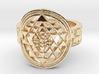 New Design Sri Yantra Ring Size 9 3d printed