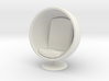 1/32 Girl sitting Egg Chair Part of Chair 004 3d printed