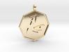 Shinobi pendant 3d printed