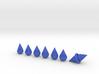 Teardrop Dice 3d printed teardrop blue