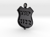 Police Badge Pendant 3d printed