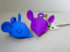 Mouse-head keychain 3d printed Mouse head key chains in strong Mouse head keychain in some strong flexible colors