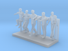 Zombie Group01 - HO 87:1 Scale 3d printed