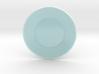 Celadon Selfie Round Saucer  3d printed