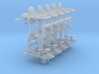 Gatling Guns (15mm) 3d printed