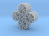 1:32 Hawaiian Cane Car Wheels Set of 20 3d printed