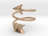 Spiral Arrow Ring - 17.35mm - US Size 7 3d printed