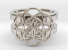 SEED OF LIFE DOUBLE BAND RING 8 3d printed
