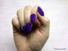 Cube Nails (Size 0)  3d printed Purple Strong and Flexible Polished