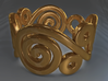 2 Spirals & Ovals (Closed version) 3d printed Spirals and ovals ring (Closed version) - Gold