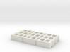 1:12 Cinder blocks set of 9 for diorama 3d printed