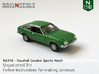 Vauxhall Cavalier Sports Hatch (N 1:160) 3d printed
