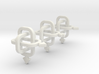 A set of equivalent Borromean rings 3d printed