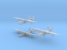 Sikorsky S42 1/700 scale Set of Three 3d printed