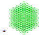 512 Tetrahedrons 3d printed An isometric view of this cubical lattice of tetrahedra.