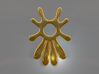 Summer 's here (pendant) 3d printed Summer 's here (Gold)