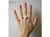 Single Rose Ring size 2 3d printed