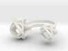 Double Rose Ring size 2 3d printed