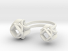 Double Rose Ring size 4 3d printed
