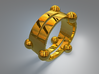 Floating ring - Split version 3d printed Floating ring - Split version - Gold