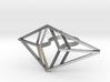 Statement geometric rhombus ring 3d printed